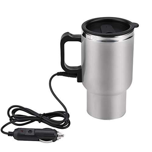 Keenso 12V 450ml Edelstahl Elektro Wasserkocher Heizung Trinkbecher Becher Flasche Reisen