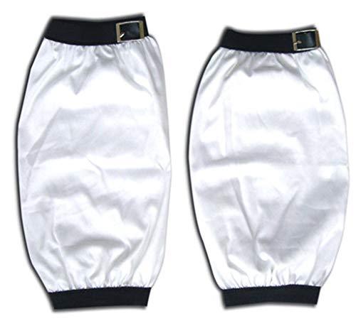 Chong Seng CHIUS Cosplay Costume Accessory Pair Of White Sleeve Covers For Uchiha Sasuke (Shippuden Sasuke Uchiha Cosplay Kostüm)