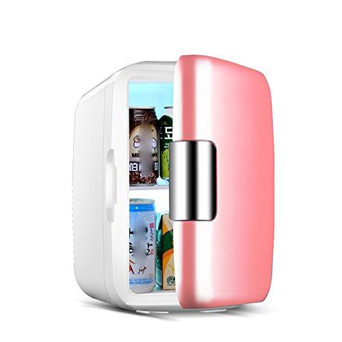 LIQICAI 6L Mini Kühlschrank 1 Tür Heizen und Kühlen Zwei Anwendungen 12V 230V (Farbe : Pink)