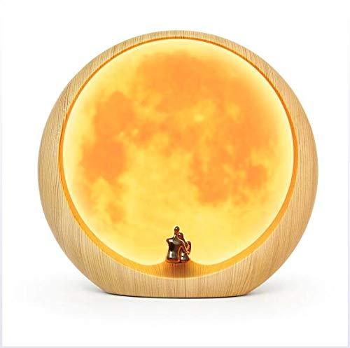 e, Mond Umgebungslampe Led Moon Lampe USB Aufladung Nachtlicht Geschenk benutzerdefinierte Nachtlicht Jubiläum Hochzeit Ideen Kunst Dekoration ()