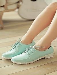 njx zapatos de la mujer Chunky talón comodidad punta redonda oxfords Outdoor  oficina y carrera vestido casual azul… 0a579d517727