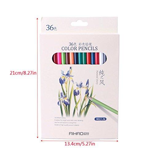 Dairyshop 36 Couleur Art Dessin Crayons Set Crayon pour l'artiste Esquisser Papeterie