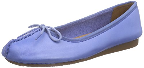 Clarks Freckle Ice - Mocasines para mujer, Azul - Blue (blue Leather), 39