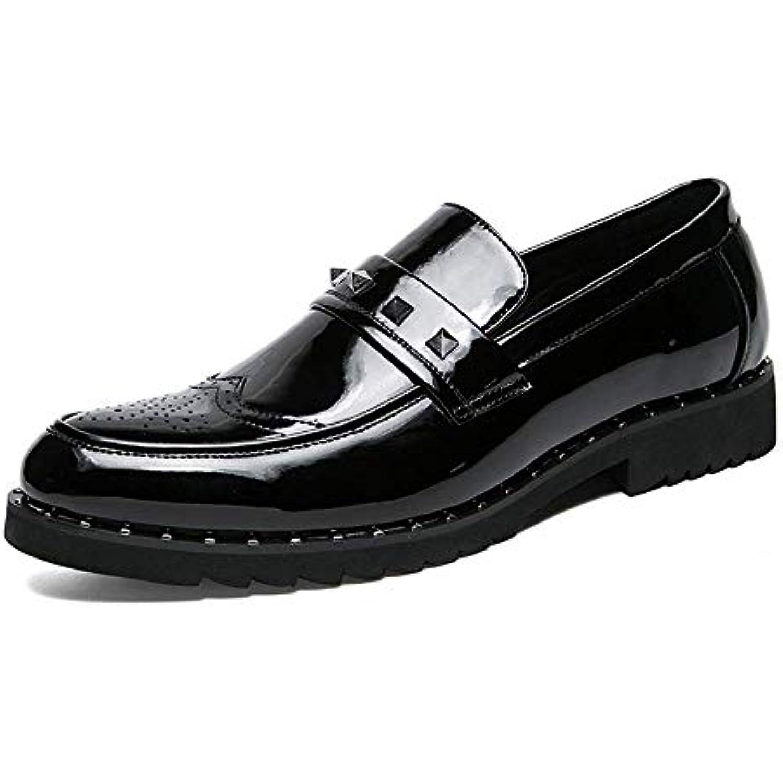 2018 Chaussures pour Hommes d'affaires Oxford, Mode décontractée Couture, Verni Chaussures Richelieu en Cuir Verni Couture, (... - B07KG9Z91V - 26e290