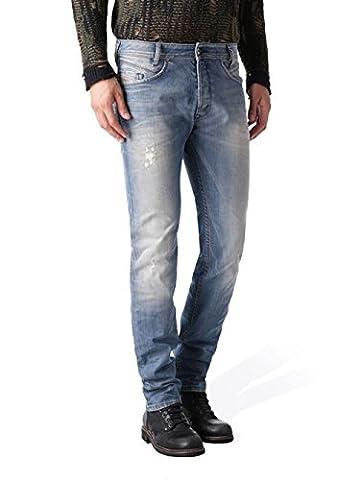 Diesel Iakop 0845F_Stretch Herren Jeans Hose Slim Carrot (W27/L32, Blau)