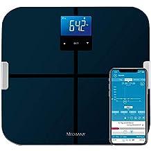 Muskelmasse und BMI 40446 Personenwaage zur Messung von K/örperwasser K/örperfettwaage aus Glas Medisana PSM digitale K/örperanalysewaage bis 180 kg