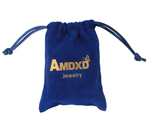 AMDXD Bijoux Plaqué Argent Femmes Boucles D'oreilles Papillon Argent