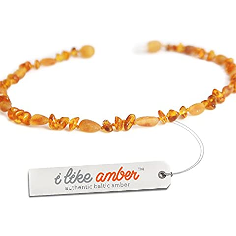 Baltic Amber Necklace / Genuine Raw & Polished Amber Beads that are 50% Richer & Higher in Value / 100 Days Money-Back Guarantee! / Sizes from 29 to 37 CM/
