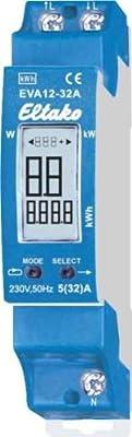 Eltako EVA12-32A Direktanzeige mit der Energieverbrauchsanzeige von Eltako auf Lampenhans.de