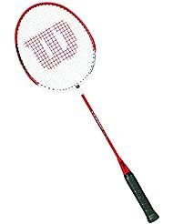 Wilson Champ 90 1/2 Raqueta de Badminton, Unisex Adulto, Rojo / Blanco, 4