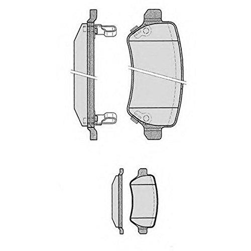 PE08150RB-9183 Kit pastiglie freno Posteriore Permafus