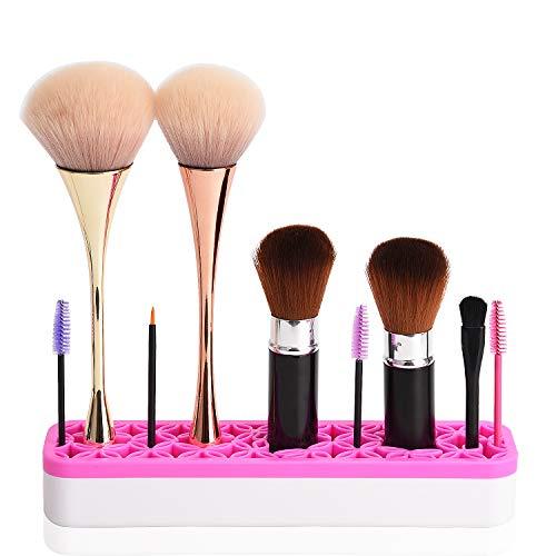 Perfekte Beauty-pinsel (Noverlife Silikon-Make-up-Pinsel-Organizer, Flexibler Silikon-Kosmetik-Werkzeug-Aufbewahrungsbehälter für Make-up, Beauty Tools Zahnbürste, Weiß/Rose, Rot)