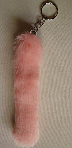 Fuchsschwanz Taschen Anhänger Schlüsselanhänger Kunstfell Fell Schweif (rosa)