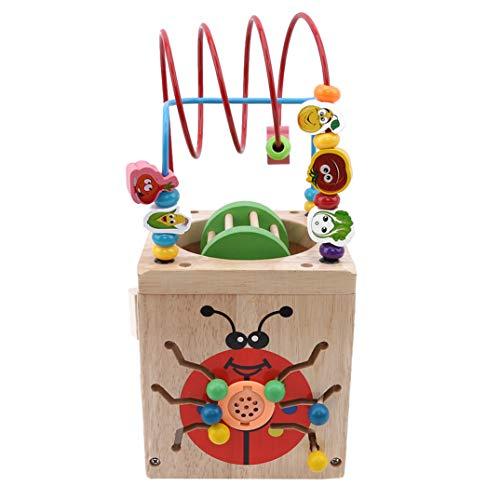 JOOFFF Puzzle, runde Perlenspielzeug, Spielzeug zum Lernen von Kognitiven Spielzeug, Holzspielzeug, klassisches Perlenlabyrinth Spielzeug, Lernspielzeug für Kinder