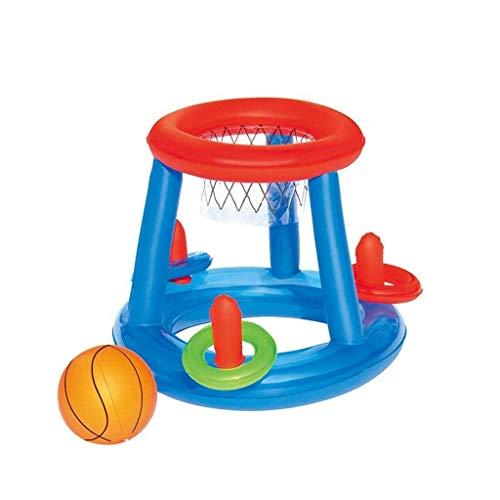 Swim Party Toys Schlauchboot Schwimmbecken Treibt Aufblasbares Meerstrandspielzeug Eltern-Kind-Schwimmbecken für Kinder Aufblasbare Volleyballkugel Basketballständer Handball Wasser-Körperkultur - Be