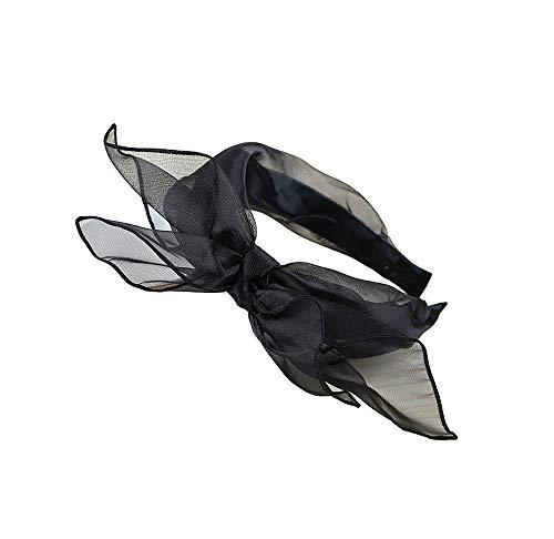 Spitze-Bogen-Stirnbänder, Bantoye 80 Partei Spitze-Haar-Schal-Stirnband mit Satin für Frauen 80 Jahre Themed Kostüm Zubehör (Babys Halloween-kostüme Sie Für Machen Hause Zu)