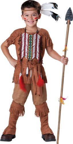 InCharacter Costumes Boy's Indian Brave Costume, Tan, 10 by ()