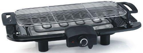 E-Tischgrill, Elektrogrill, starke 2000Watt, große Grillfläche 45x22,5cm, leichte Reinigung, BBQ-Grill