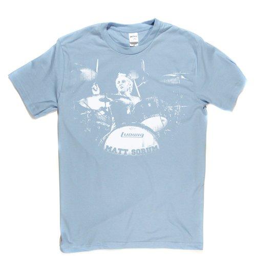 Matt Sorum American Drummer Hard Rock Star T-shirt Himmelblau