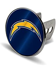 NFL San Diego Chargers Laser Cut Metal Hitch Cover, Large, Silver by Rico