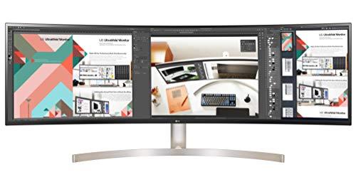 LG 49WL95C-W 124,46 cm (49 Zoll) Curved 32:9 UltraWideTM Dual QHD IPS Monitor (HDR10, USB Type-C, DAS Mode, Rich Bass), schwarz weiß