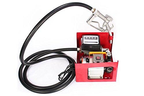 BuoQua Heizölpumpe Selbstansaugend Dieselpumpe mit Zählwerk Ölpumpe Elektrisch Ölabsaugpumpe mit Zapfpistole