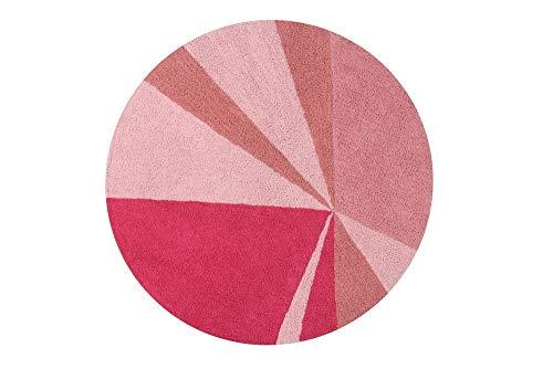 Lorena Canals Alfombra Lavable Geometric 100% Algodón - Diferentes tonos de Rosa, Fucsia - 160x160...