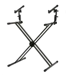 Classic Cantabile support pour synthétiseur, pieds doubles en croix (noir)