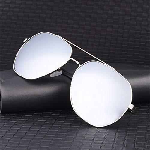 LKVNHP Neue Hohe Qualität 160Mm Max Bis 175Mm Übergroße Sonnenbrille Männer Fahren Sonnenbrille Für Mann Gespiegelt Ultra Light Hd Coating Film Uv400Silber