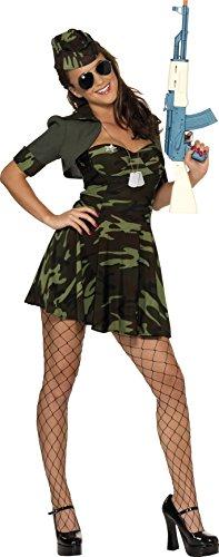 Imagen de smiffy's  disfraz de militar para mujer, talla m 33078m