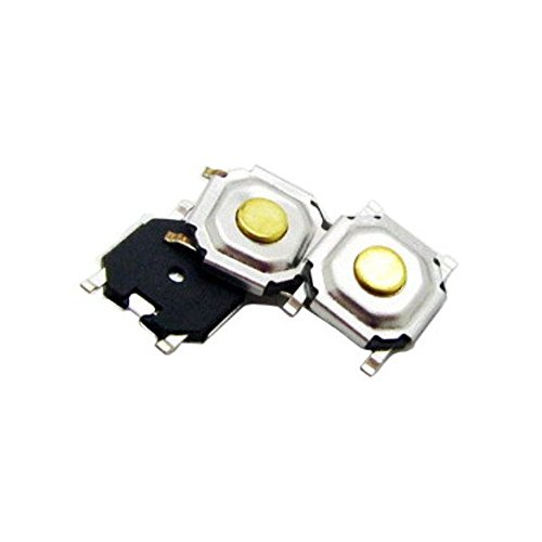 SMD PushButton Momentary Tactile Micro Switch 4x4x1.5 mm Round Copper Button from Optimus Electric Pack of 100 (Mount-button Surface)