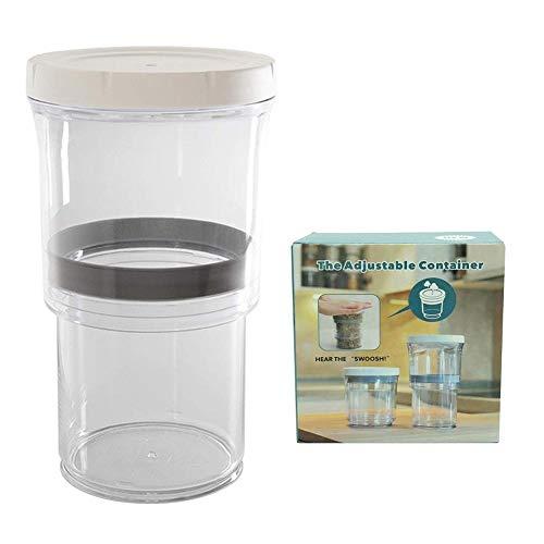 cubicde Verstellbarer Vorratsbehälter Frischhaltend Pressen Entfernen von Luftmuttern Foods 16oz bis 32oz