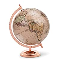 Abbott Collection Globe on Stand, Rose Gold