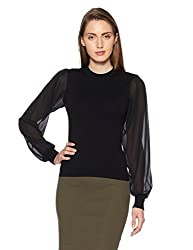 Forever 21 Womens Synthetic Pullover (00055376032_0005537603_BLACK_2_)