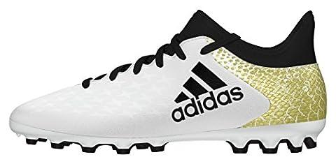 adidas Unisex-Kinder X 16.3 Ag J Fußballschuhe, Weiß (Ftwr White/Core Black/Gold Metallic), 28 EU