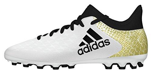 adidas X 16.3 Ag J, Chaussures de Football Entrainement Mixte Enfant Blanc (Ftwr White/core Black/gold Metallic)