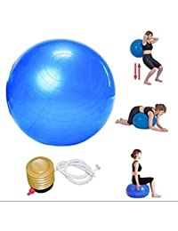 P V SALES Body Exercise Workout Anti Burst Gym Ball 75 Cm (Colour : Multi)