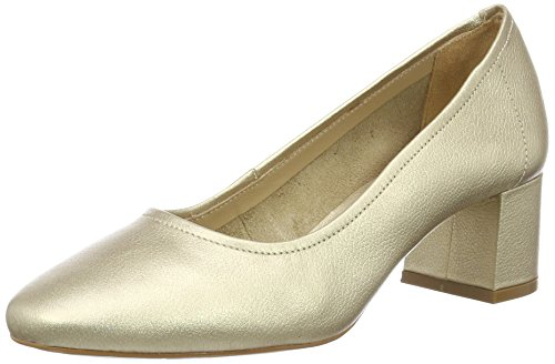 Buffalo London Damen ZS 6632-16 Soft Tumbled  Pumps, Gold (Gold 01), 38 EU
