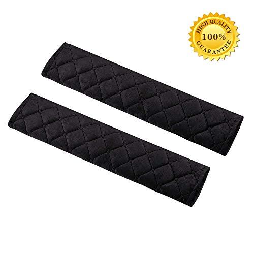 Spallina per cintura auto - Due confezioni- Spalla morbida per cintura auto Cintura per adulti e bambini, adatta per cintura seggiolino auto, zaino, borsa a tracolla (nero)