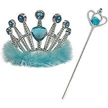Kit de tiara y varita turquesa inspirada en Frozen