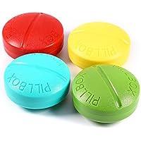 BlueBeach Pack von 2 Reise Pillendose Pillenbox Vitamine Medizin Tablet Organizer Case 4 Fächer Lagerung (Zufällige... preisvergleich bei billige-tabletten.eu