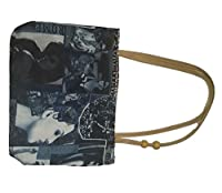 PVC Printed Hand Bag with Zip - Blue/Grey City Design Girls