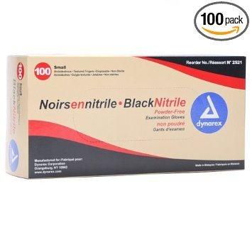 Guanti in nitrile nero Confezione da 100(Medium)