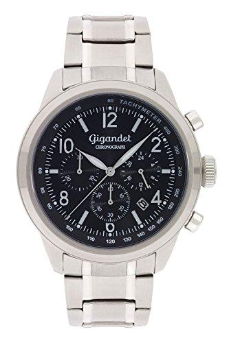 Gigandet Journey Orologio da Uomo Cronografo Analogico Quarzo Nero G25-001