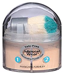 Physicians Formula Mineral Wear Talc Free Mineral Loose Powder Duo, Creamy Light/Creamy...