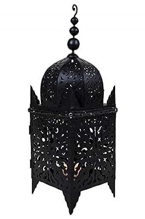 lanterne orientale en m tal noir frane 65 cm grande. Black Bedroom Furniture Sets. Home Design Ideas