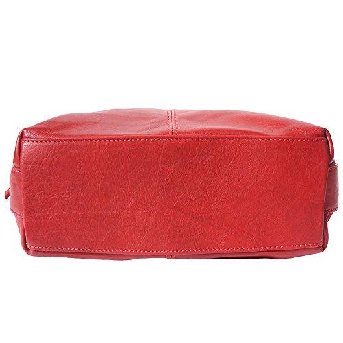 Borsa Hobo a spalla con la tracolla regolabile e staccabile 3013 Rosso