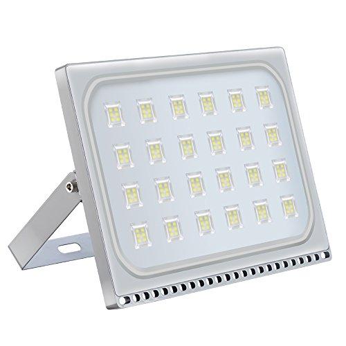 LED Flutlicht 150W, super helle Sicherheitslichter im Freien, IP67 wasserdicht, kaltweiß 6000-6500k, 12000lm, ultradünner Landschaftsscheinwerfer für Garten, Lager, Platz, Spielplatz, Teich