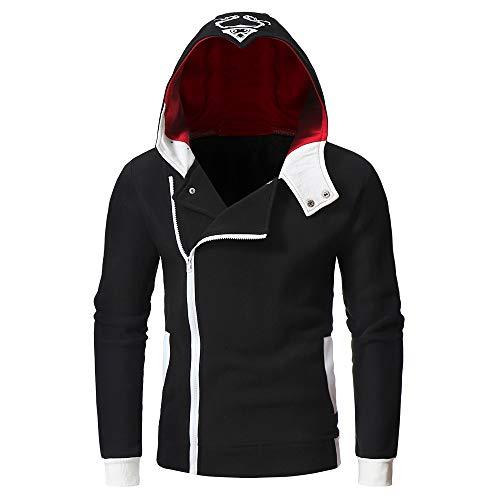 Mäntel Herren,SANFASHION Männer Herbst Langarm Kapuzenpullover Hooded Jacke Sweatshirt Top Outwear...