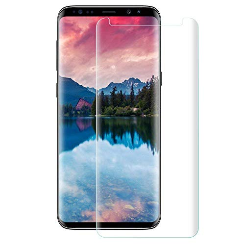 BALY Galaxy S9 Displayschutzfolie Glas Full Cover (3D Curved) Tempered Glass Screen Protector with Dot Matrix for Samsung Galaxy S9 Matrix Protector